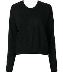 mm6 maison margiela reversible sweater - black