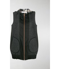 see by chloé zipped hooded gilet