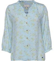 nuailbhe blouse blus långärmad blå nümph