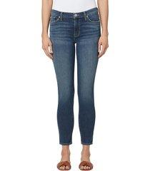 hudson women's natalie mid-rise super skinny ankle jeans - blue - size 24 (0)