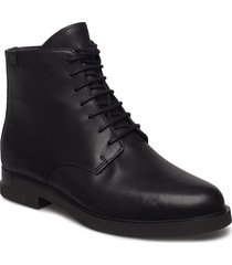 iman womens shoes boots ankle boots ankle boots flat heel svart camper