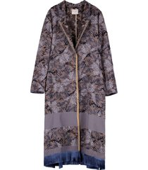 forte forte les papillons single-breasted long coat