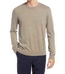 men's billy reid cotton & cashmere crewneck sweater, size xx-large - brown