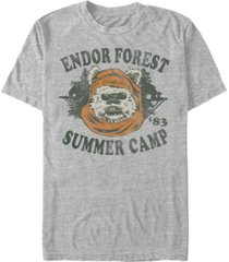 star wars men's classic ewok summer camp short sleeve t-shirt