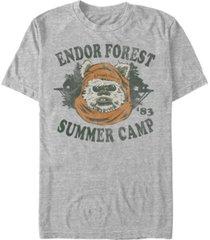 star wars men's classic ewok summer camp short sleeve t-shirt