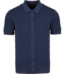 roberto collina multi-button polo shirt
