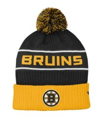 outerstuff youth boston bruins 2020 rinkside pom knit hat