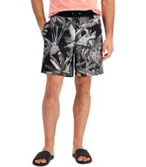 """inc international concepts men's black & white paradise 7 3/4"""" shorts, created for macy's"""