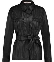 aaiko pamas 532 black pu jacket