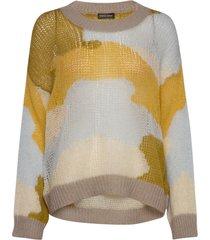 sana, 879 camouflage knit stickad tröja gul stine goya