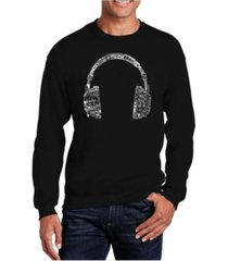 la pop art men's word art headphones - languages crewneck sweatshirt