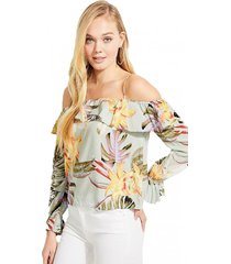 blusa spotted jacquard blanco guess
