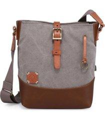 tsd brand redwood canvas crossbody bag