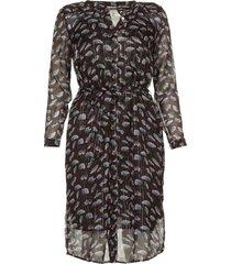 jurk met bloemenprint aja  zwart dress with floral print aja