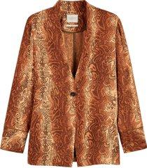 maison scotch pyjama blazer in prints combo d
