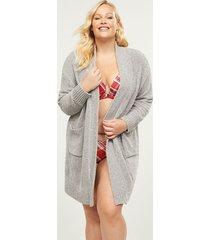 lane bryant women's chenille robe 26/28 nova grey