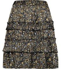 juliette satin print knälång kjol multi/mönstrad arnie says