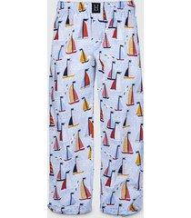 spodnie męskie do spania piżama żaglówki