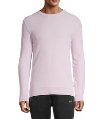 boss hugo boss men's crewneck cotton sweatshirt - light pink - size xl