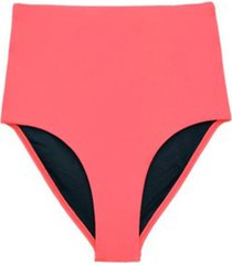 bikini calzón tiro alto naranja samia