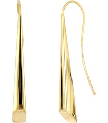 women's bony levy cleo 14k gold tapered linear earrings (nordstrom exclusive)