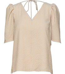 dream short sleeve blouses short-sleeved beige storm & marie