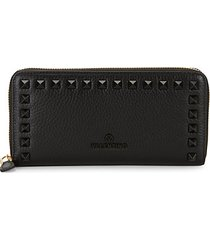 grace dollaro pebbled-leather long wallet