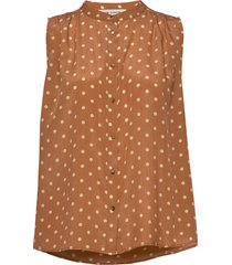 blouse blouse mouwloos bruin sofie schnoor