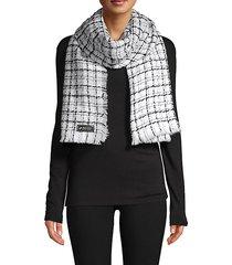 patterned tweed scarf