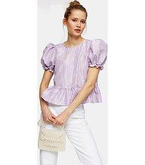 lilac bow back taffeta top - lilac