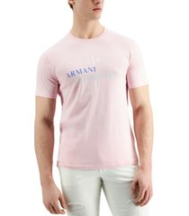 ax armani exchange men's double logo graphic t-shirt, created for macy's