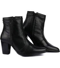 ankle boot em couro sapatofran feminina - feminino