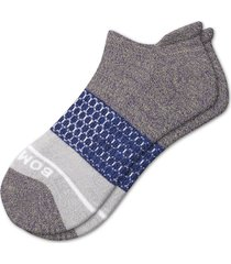 men's bombas color block ankle socks, size large - green