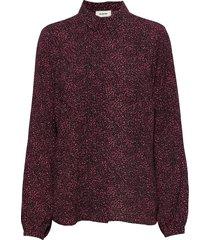 vancouver print shirt blouse lange mouwen rood modström