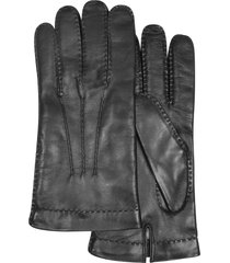 forzieri designer men's gloves, men's cashmere lined black italian leather gloves