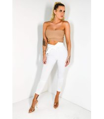 akira luck be a lady high waisted belted cigarette pant