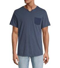 buffalo david bitton men's kodak split-neck t-shirt - whale - size s