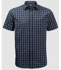 overhemd korte mouw jack wolfskin chemise manches courtes hot springs