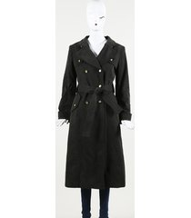 dolce & gabbana belted trench coat