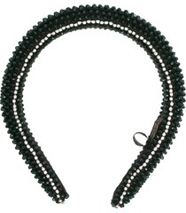maryjane claverol guyana beaded headband - green