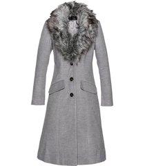 cappotto con collo in ecopelliccia (grigio) - bpc selection