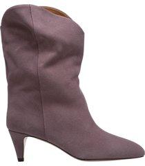 stivaletti stivali donna con tacco in pelle dernee