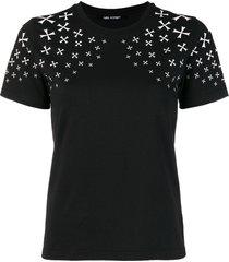 neil barrett military star print t-shirt - black