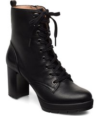 korfu_clf shoes boots ankle boots ankle boots with heel svart unisa