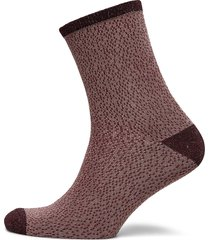 drop needle glow sock lingerie socks regular socks brun becksöndergaard