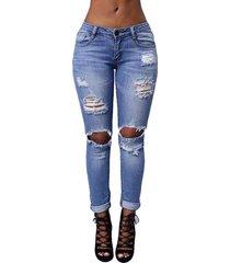 jeans skinny strappati elasticizzati