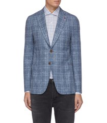 'cortina' notch lapel single-breast check wool silk blend blazer