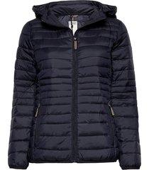 jackets outdoor woven gevoerde lange jas blauw esprit casual