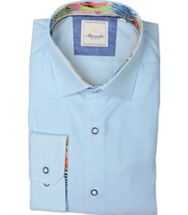 bos bright blue overhemd lichtblauw mf 21.20sh003.5/019