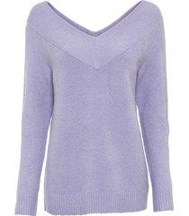 maglione con scollo a v ampio (viola) - bodyflirt